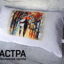 нанесение изображения на подушку